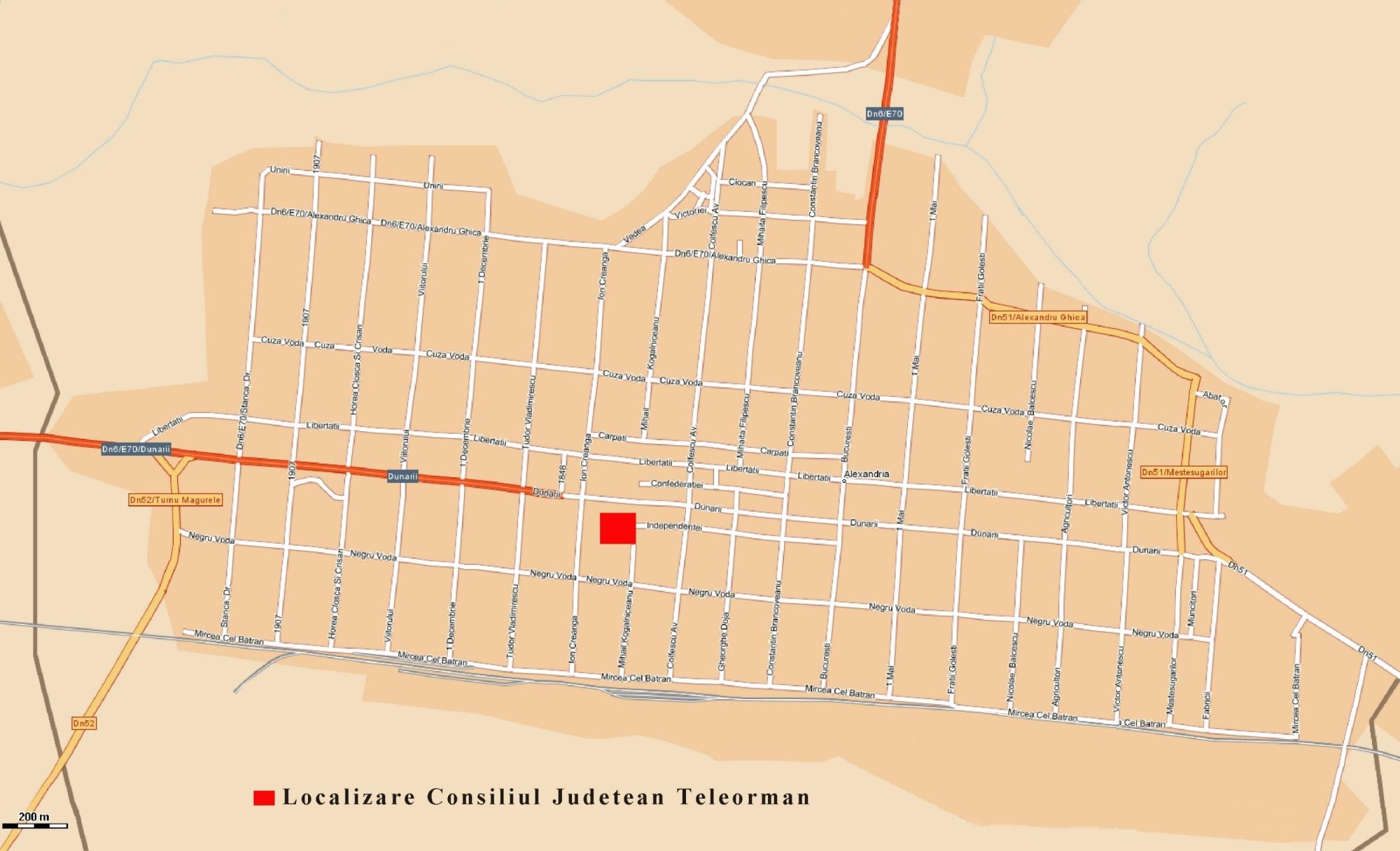 Harta Administrativa Teleorman